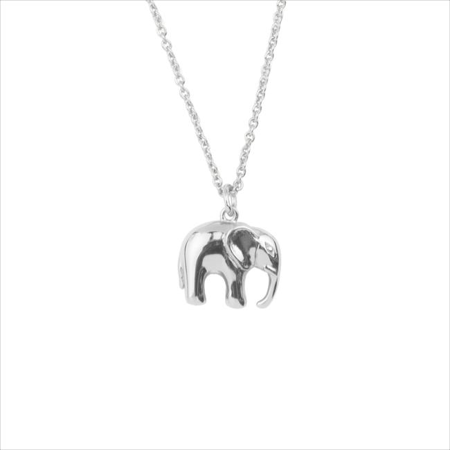 Zilveren ALLTHELUCKINTHEWORLD Ketting SOUVENIR NECKLACE ELEPHANT - large