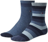 Blauwe TOMMY HILFIGER Sokken TH KIDS BASIC STRIPE SOCK 2P - small