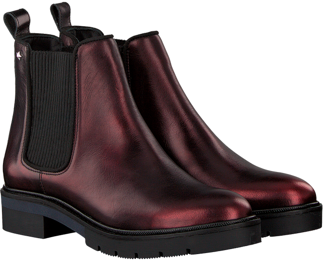 Bruine TOMMY HILFIGER Chelsea boots METALLIC LEATHER CHELSEA BOOT - large