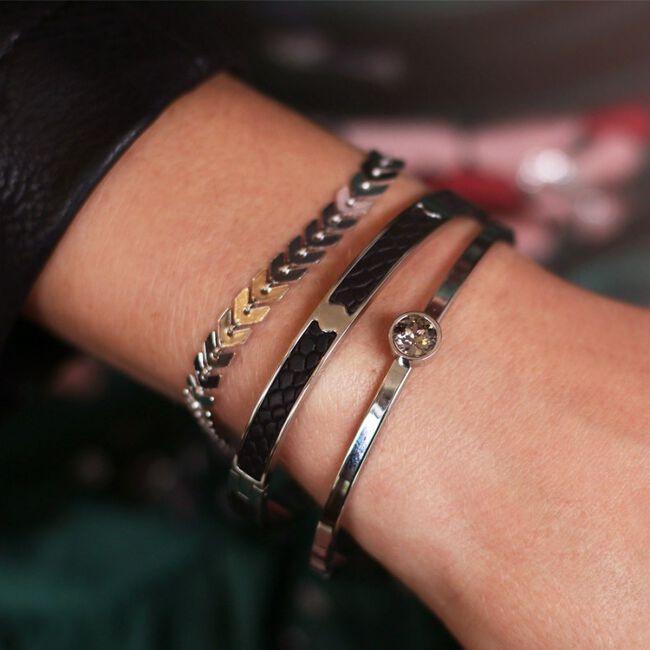 Zilveren MY JEWELLERY Armband LITTLE STONE BANGLE - large