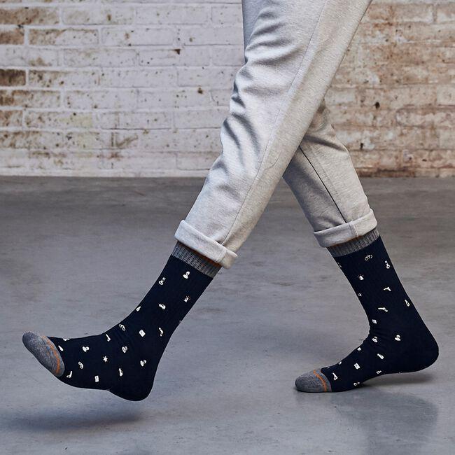 Blauwe XPOOOS Sokken ICONS  - large
