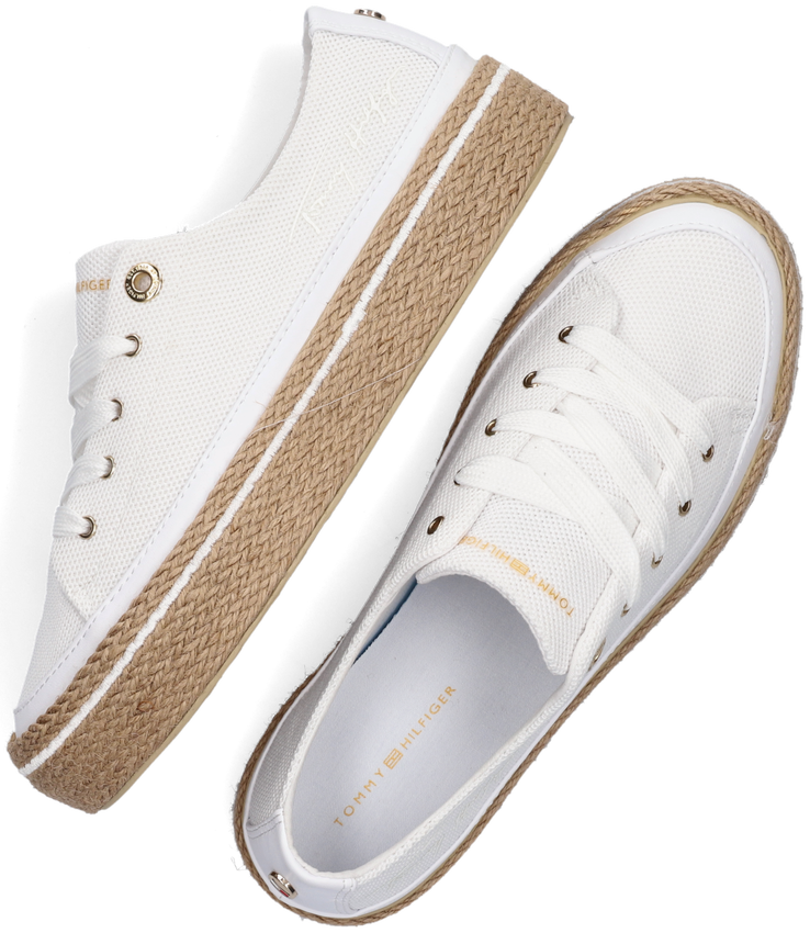 Witte TOMMY HILFIGER Lage sneakers WHITE SUNSET VULC  - larger