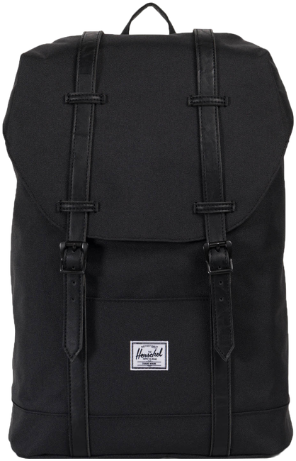 Zwarte HERSCHEL Rugtas RETREAT MID-VOLUME - large