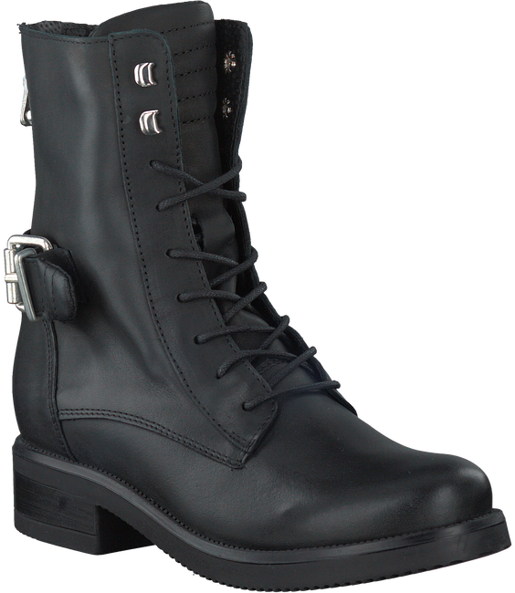 Zwarte PS POELMAN Veterboots R13171  - large