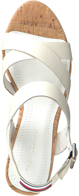 Witte TOMMY HILFIGER Sandalen CORPORATE WEDGE  - large