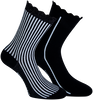 Zwarte MARCMARCS Sokken AMY COTTON 2-PACK - small