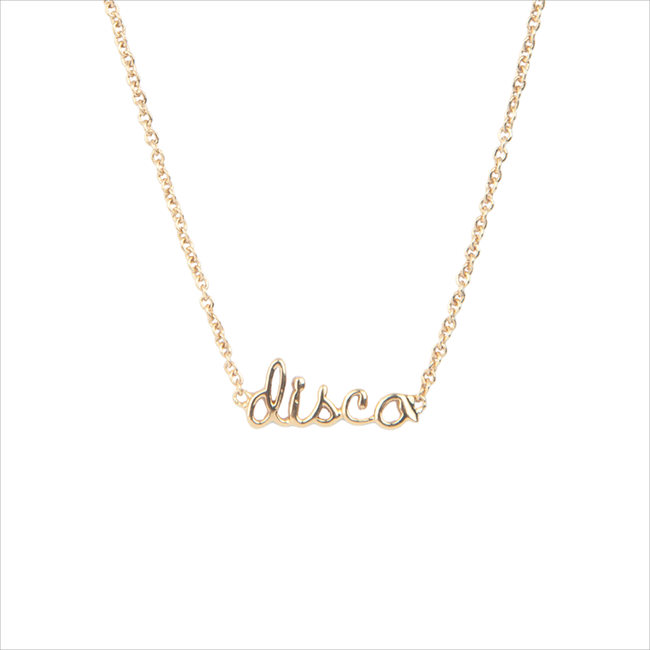 Gouden ATLITW STUDIO Ketting URBAN NECKLACE DISCO - large