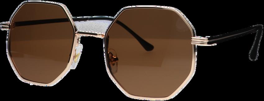 Bruine WYSH Zonnebril ROBYN  - larger