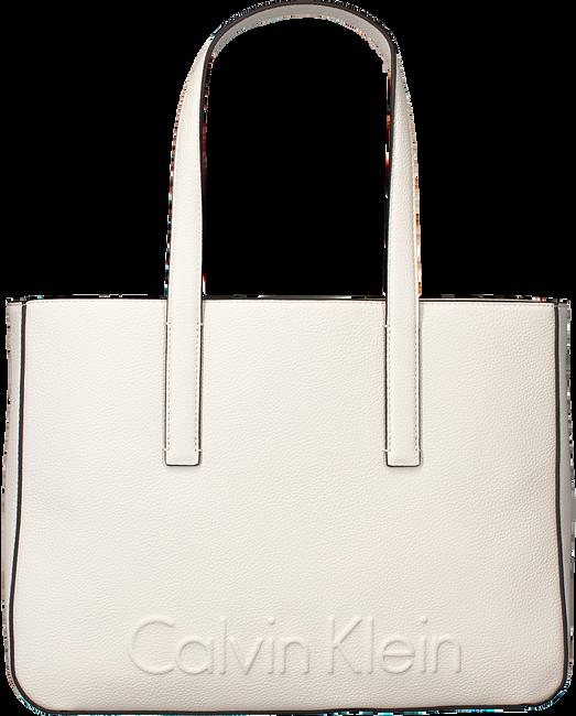 Witte CALVIN KLEIN Shopper EDGE MEDIUM SHOPPER - large
