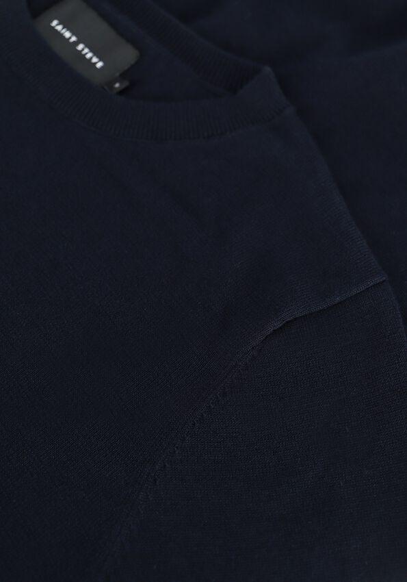 Donkerblauwe SAINT STEVE Trui BART ROUNDNECK  - larger