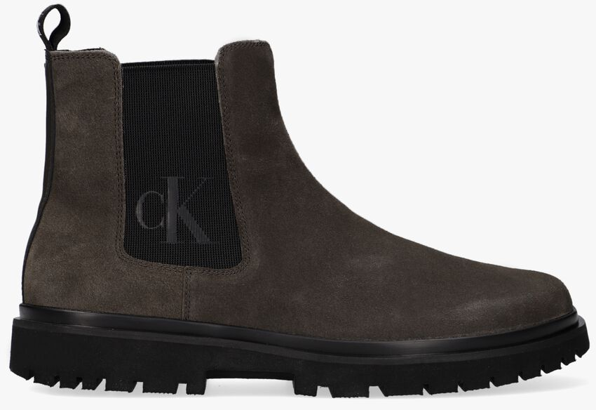 Groene CALVIN KLEIN Chelsea boots LUG MID CHELSEA  - larger