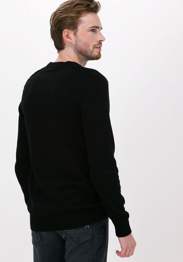Zwarte LYLE & SCOTT Trui SHOULDER DETAIL CREW NECK KNIT - larger