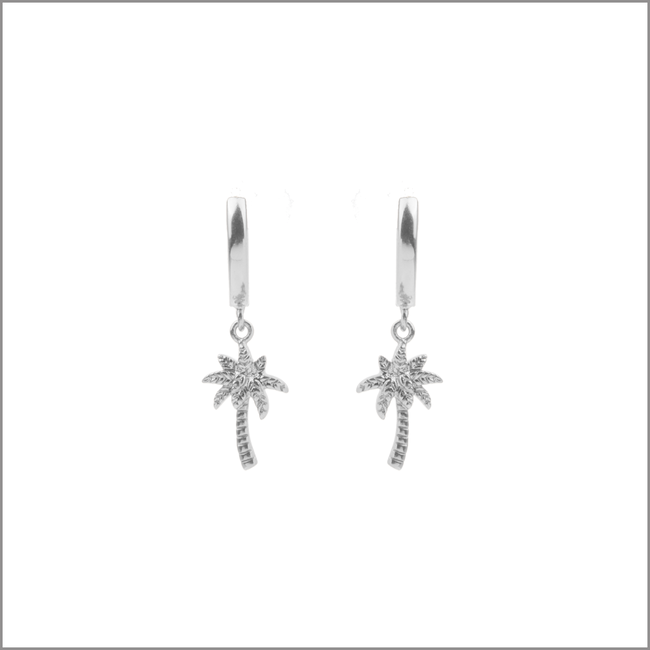 Zilveren ATLITW STUDIO Oorbellen SOUVENIR EARRINGS PALM TREE - large