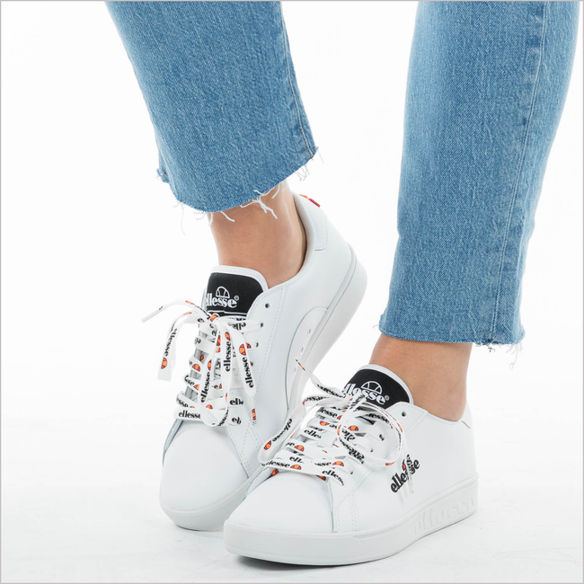 Witte ELLESSE Sneakers CAMPO EMB - large