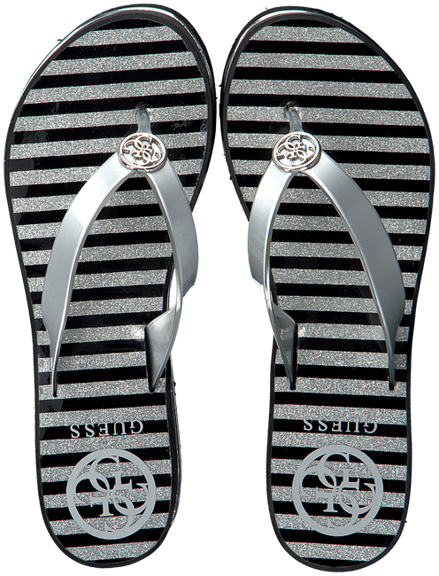 Zilveren GUESS Slippers ENZY  - large