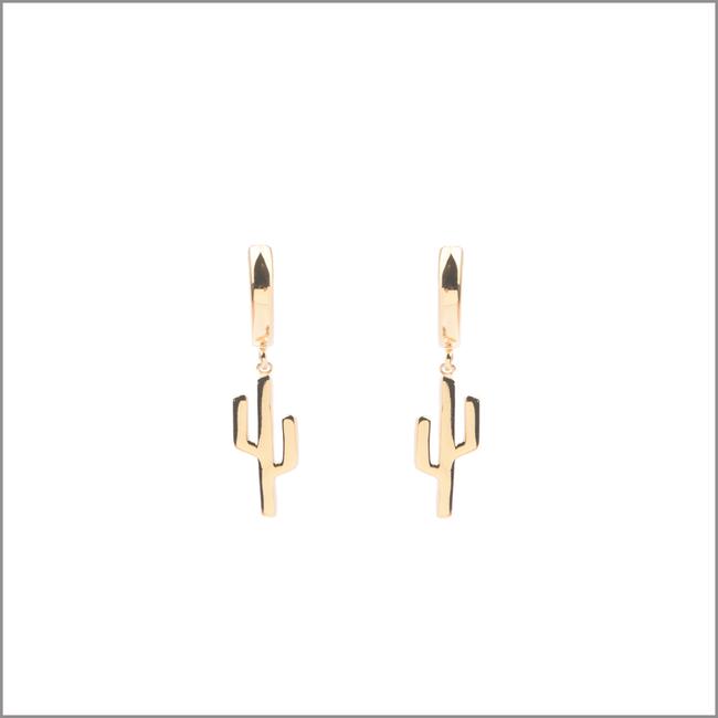 Gouden ATLITW STUDIO Oorbellen SOUVENIR EARRINGS CACTUS - large