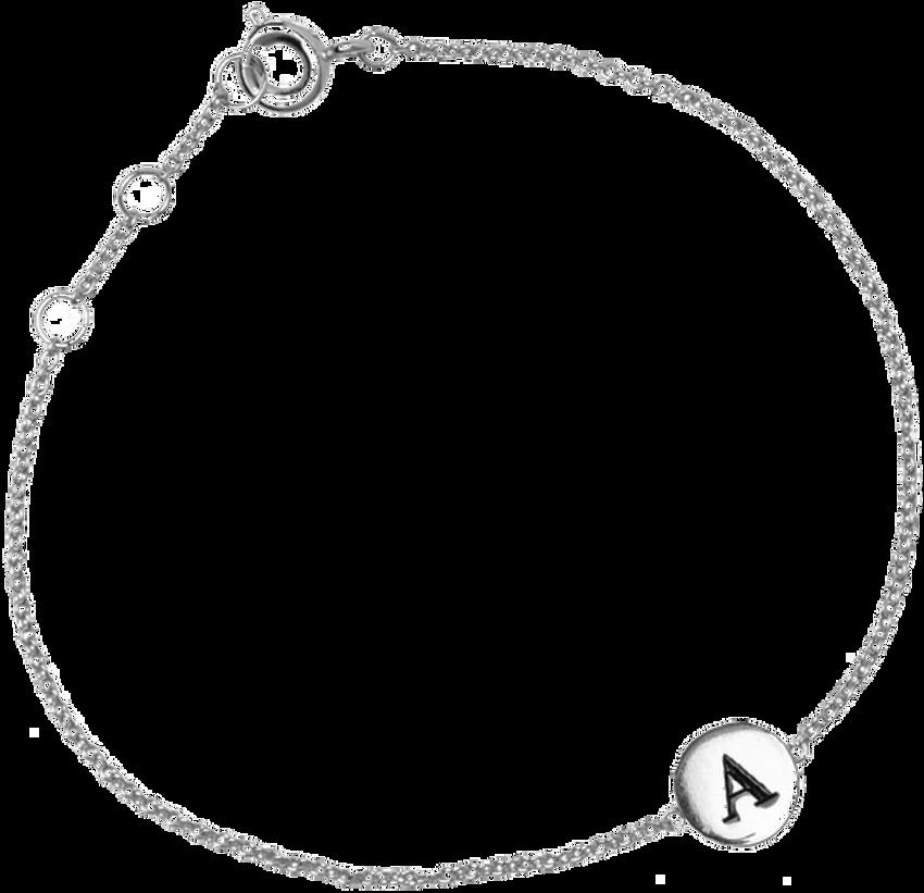 Zilveren ATLITW STUDIO Armband CHARACTER BRACELET LETTER SILV - larger