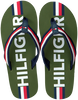Groene TOMMY HILFIGER Teenslippers MAXI LETTERING PRINT FLIP FLOP  - small