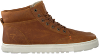 Cognac HUB Hoge sneaker GLASGOW  - medium