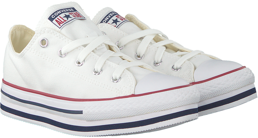 Witte CONVERSE Lage sneakers CHUCK TAYLOR ALL STAR PLATFORM LAYER LO - larger