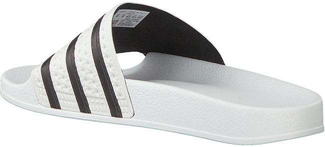 Witte ADIDAS Badslippers ADILETTE KIDS  - large