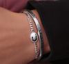 Zilveren MY JEWELLERY Armband ARMBAND BEDEL OVAAL ROOS - small