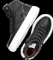 Zwarte RED-RAG Hoge sneaker 13144  - medium