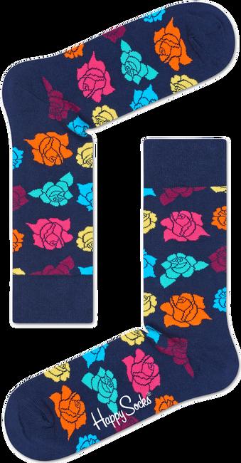 Blauwe HAPPY SOCKS Sokken ROSE - large
