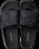 Zwarte THE WHITE BRAND Slippers GLITTER BEACH - small