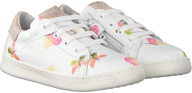 Witte CLIC! Lage sneakers 9187  - large