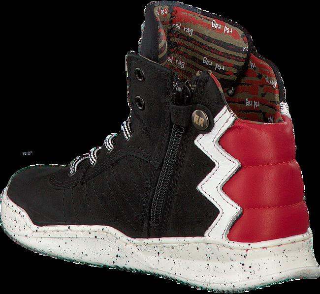Zwarte RED RAG Sneakers 13195  - large