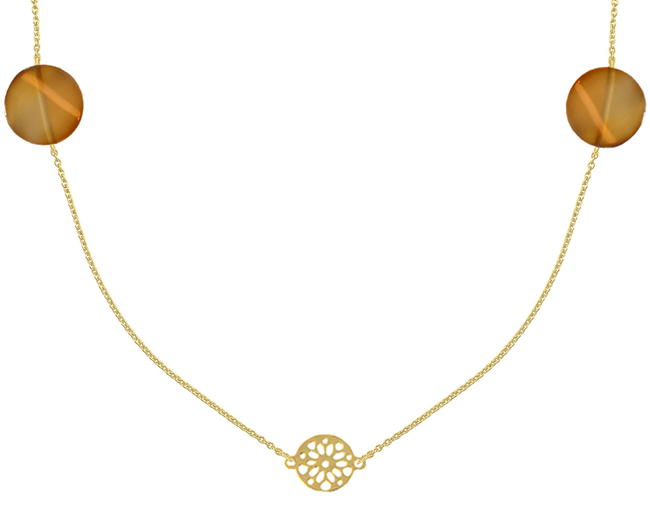 Gouden JEWELLERY BY SOPHIE Ketting NECKLACE DESERT - large