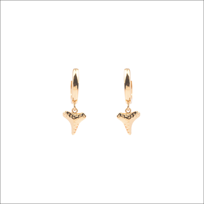 Gouden ALLTHELUCKINTHEWORLD Oorbellen SOUVENIR EARRINGS TOOTH - large