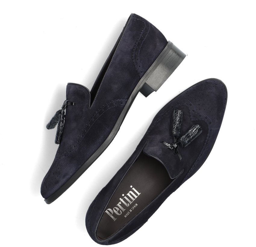 Blauwe PERTINI Loafers 11975 - larger
