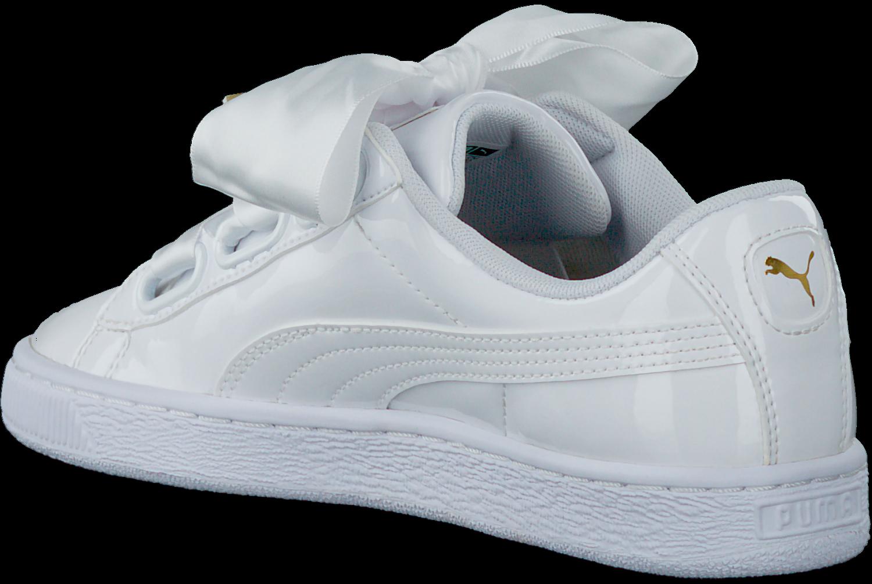 1fd3bb36b4f Witte PUMA Sneakers BASKET HEART PATENT - Omoda.nl