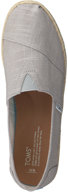 Grijze TOMS Espadrilles CLASSIC ROPE SOLE - large