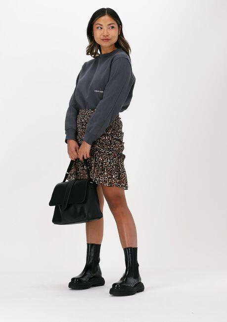 Grijze CALVIN KLEIN Sweater OFF PLACED MONOGRAM CREW NECK - large