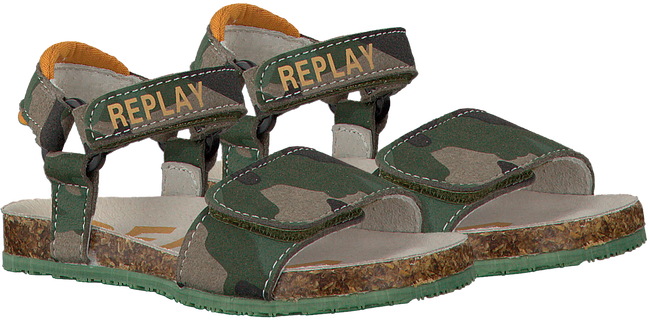 Groene REPLAY Sandalen HARRICANE CAMO - large