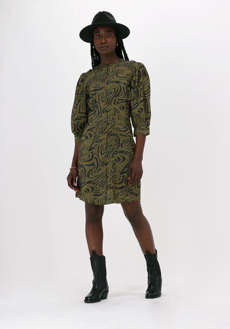 Groene SCOTCH & SODA Midi jurk PRINTED FITTED BUTTON-THROUGH  - large