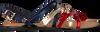 Blauwe TOMMY HILFIGER Sandalen METALLIC STRAPPY FLAT SANDAL - small