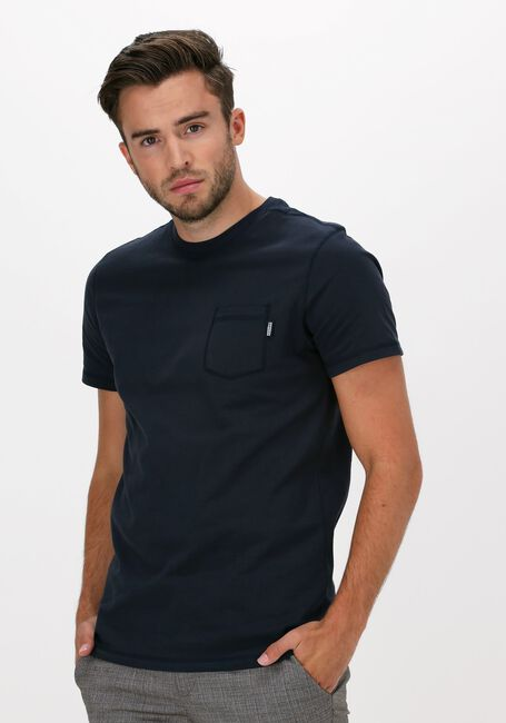 Blauwe KULTIVATE T-shirt TS DAMON - large