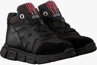 Zwarte RED-RAG Hoge sneaker 13159  - medium