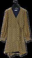 Gele FREEBIRD Mini jurk BORA LS