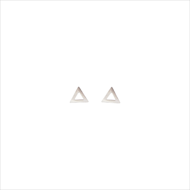 Zilveren ALLTHELUCKINTHEWORLD Oorbellen PETITE EARRINGS TRIANGLE - large
