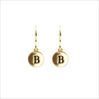 Gouden ATLITW STUDIO Oorbellen CHARACTER EARRINGS LETTER GOLD - medium