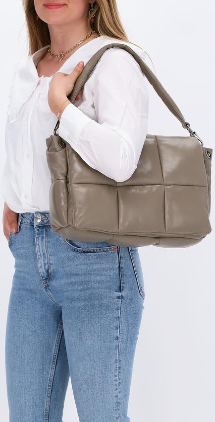 Beige STAND STUDIO Handtas WANDA CLUTCH BAG  - larger