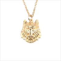 Gouden ATLITW STUDIO Ketting SOUVENIR NECKLACE WOLF - medium