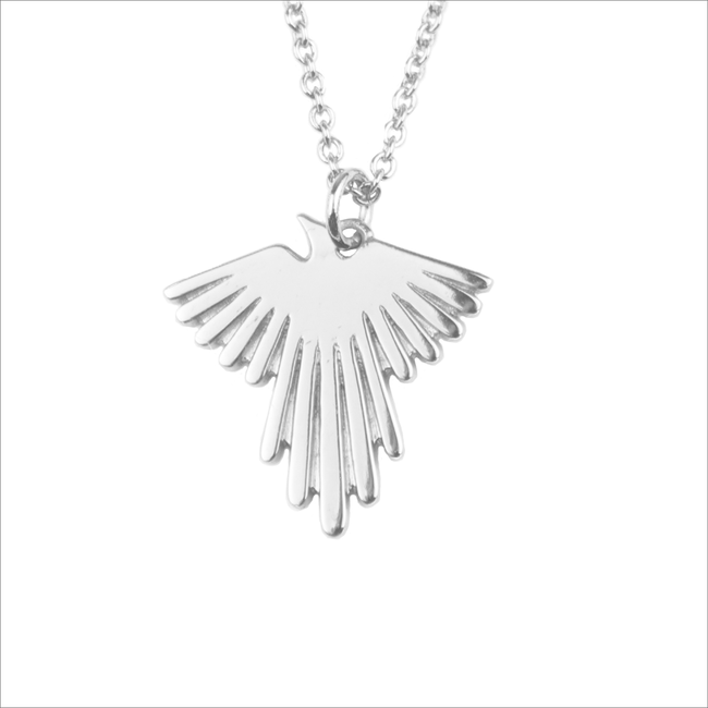 Zilveren ALLTHELUCKINTHEWORLD Ketting SOUVENIR NECKLACE EAGLE - large