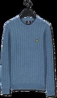 Blauwe LYLE & SCOTT Trui CABLE JUMPER