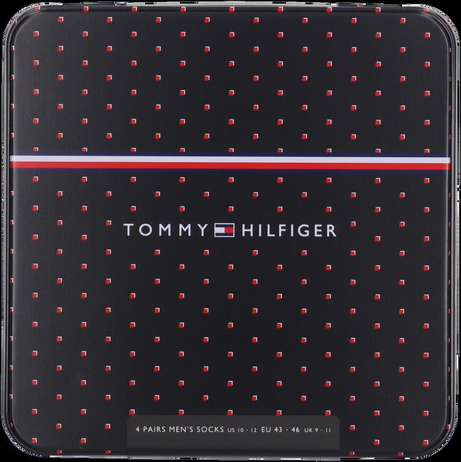 Zwarte TOMMY HILFIGER Sokken TH MEN SOCK 4P TIN GIFTBOX  - large